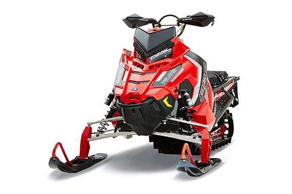 Red Snowmobile.